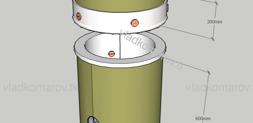 печь газовая из 200л бочки
